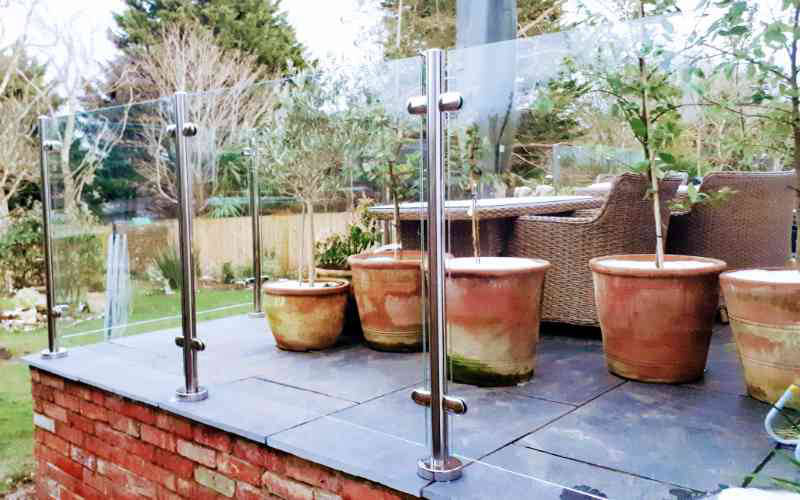 Toughened and laminated glass and post balustrade